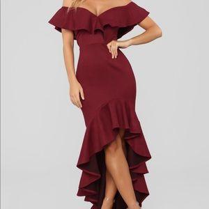 La Flamenca Dress - wine